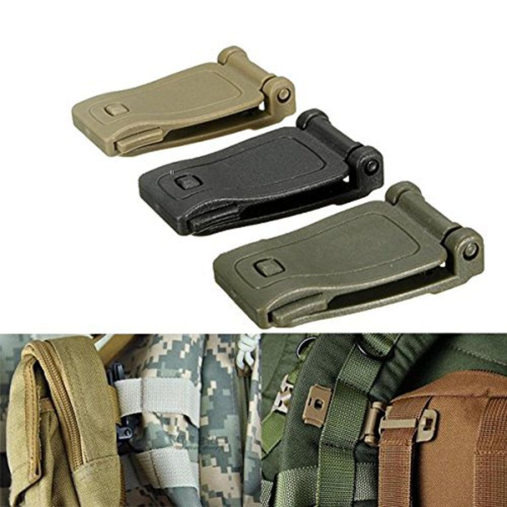 3Pcs Buckle Backpack Webbing Clip MOLLE System - Trekmor