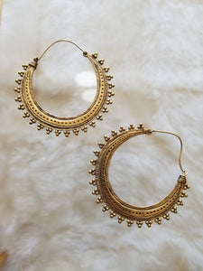 Rust Golden Hoops