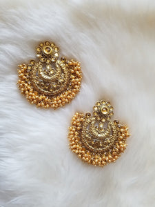 Gold Plated with Cluster Beads