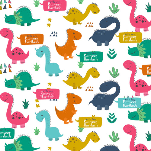 Personalised Wrapping Paper - A Dino Party