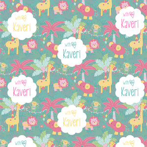 Personalised Wrapping Paper - Animal Party