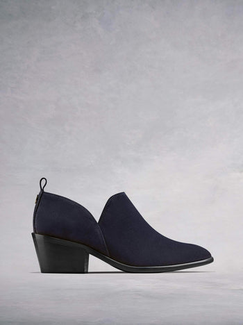 Avalon Navy Suede - Stylish shoe boot slip on.