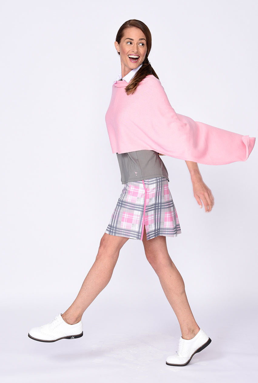 Transfusion Plaid Performance Skort