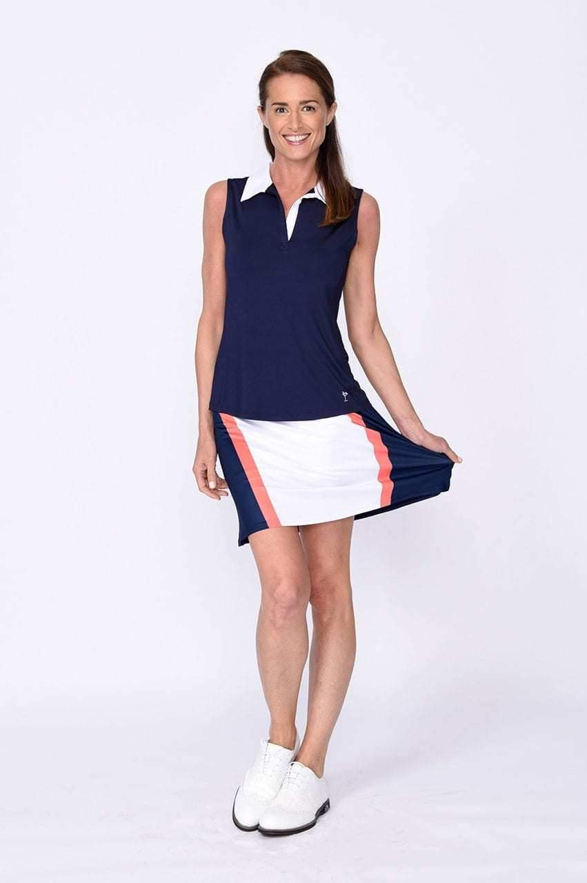 Longest Drive Navy & Orange Pull-On Tech Skort