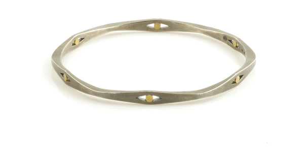 Bangle With Small Gold Inlay