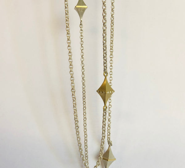 Square Station Necklace