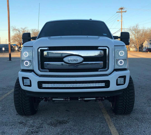 2011-2016 Ford F250 F350 F450 40 inch curved light bar kit for bumper opening