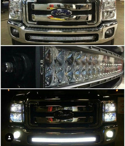 2011-2016 Ford F250 F350 F450 40 inch curved light bar kit for bumper opening - OffroadLEDbars