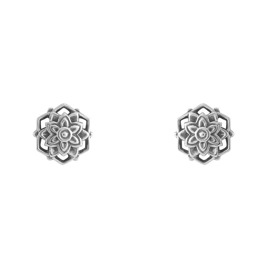 Sterling Silver Morning Flower Studs