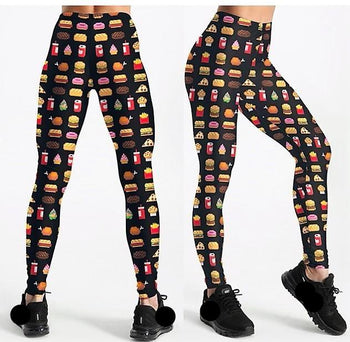 Fast Food Leggings,RedOphelia.com