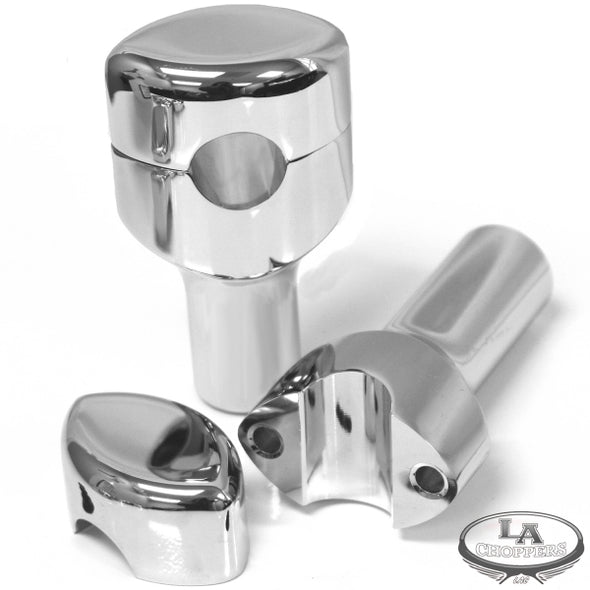 "RISERS SMOOTH FOR 1"" HANDLEBARS 3"" RISE CHROME UNIVERSAL"