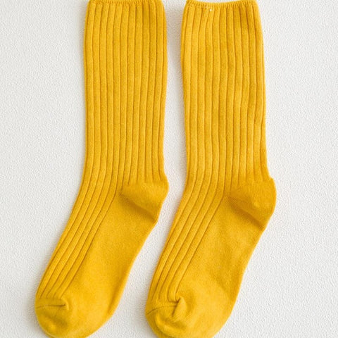 Retro Yellow Socks