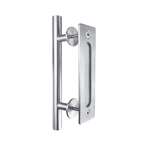 Barn Door Handle Pull Stainless Steel with Recessed Handle Included