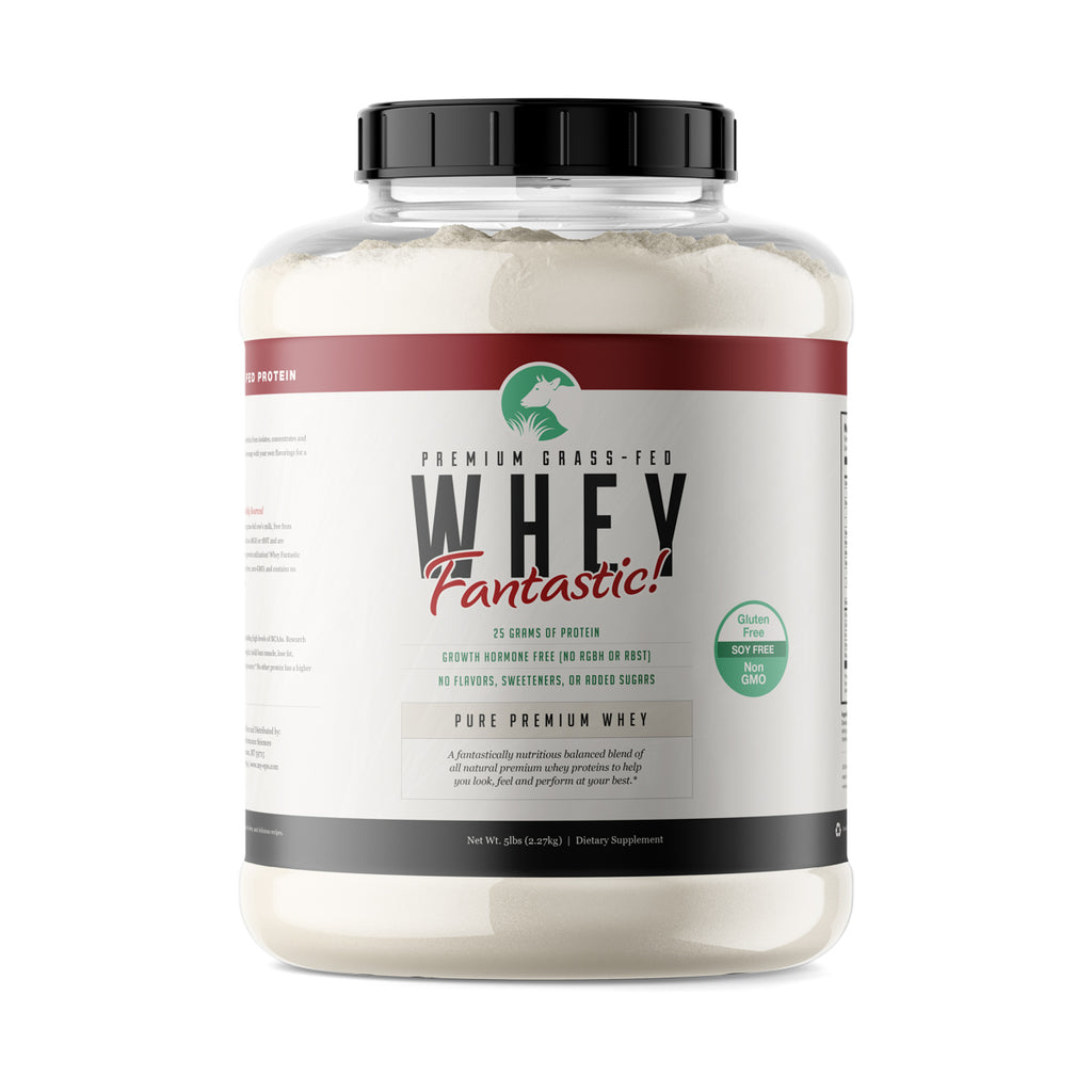 Whey Fantastic! - Unflavored Blend of Premium Grass Fed Whey Proteins - Bulk -  5lb - 75 Servings