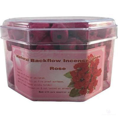 Backflow Incense Cones - Rose Fragrance (Pk 70)-Metaphysical Products-Cosmic Crystal Visions-Cosmic Crystal Visions
