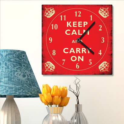 Clock - Keep Calm And Carry On