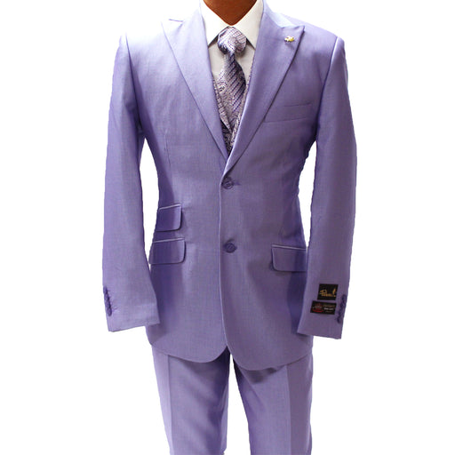 Falcone City Purple Lavender Six Piece Vested Classic Fit Suit