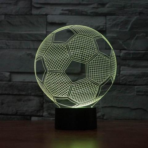 "Image of 3D  ""Soccer"" illusion lamp"