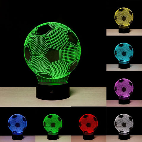 "Image of 3D  ""FOOTBALL"" ILLUSION LAMP 