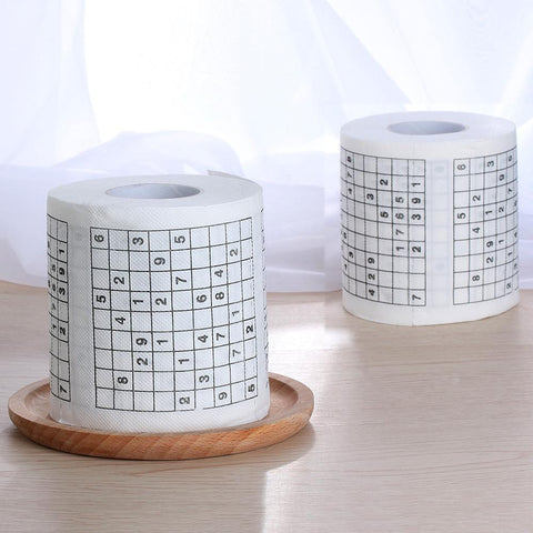 Image of Sudoku Puzzle Toilet Roll | smartcooldeals