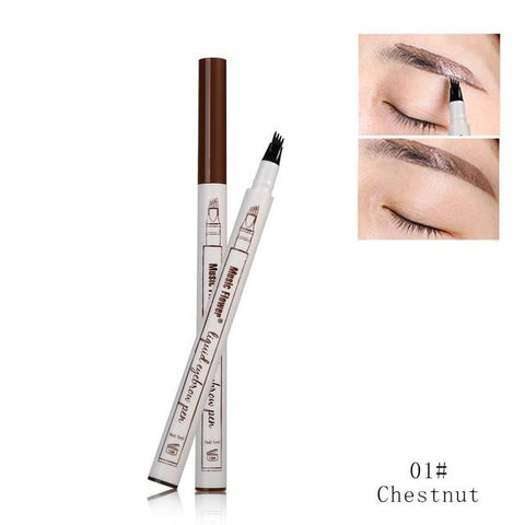Marvelous Waterproof Microblading Pen is a new-concept, long-wearing, four-tip pen colors each eyebrow with a supernatural look, will last all day.   Shape and fill in your eyebrows with our Microblading Tattoo Eyebrow Pen with ultra accuracy and control for the most natural looking, defined, and perfect eyebrows you've ever had!