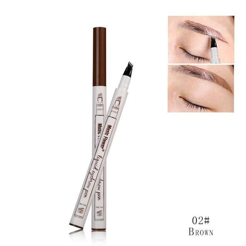 The unique 4-tip applicator allows creating a more hair-like natural brow look. You can get elegant eyebrows with the selection of shades that matches your hair color.