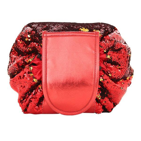Image of Red Mermaid Sequin Cosmetic Bag | smartcooldeals.com