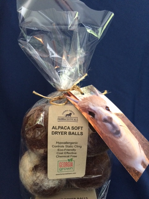 Alpaca Soft Dryer Balls - 4 pack