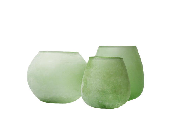 Frosted Votive - Green