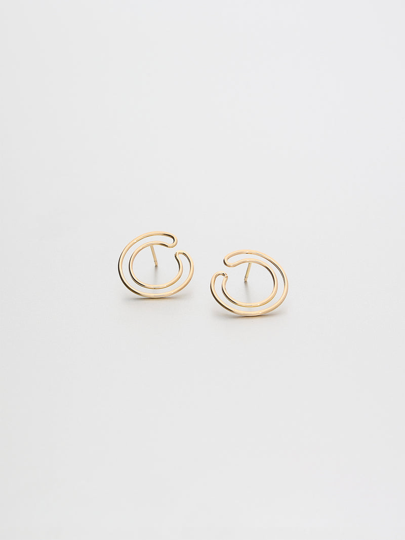 Cirque Earrings Small, Rose gold