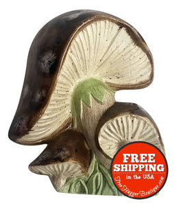 Vintage Mushroom Wall Plaque by Duncan Ceramics - Wall Art