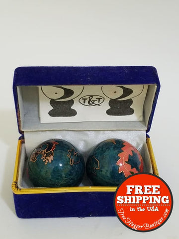 Vintage Chinese Meditation Balls Arthritic Hand Exercise