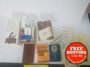 Vintage Mid Century Ephemera Kelly Blue Book Stationary Insurance Business - ephemera