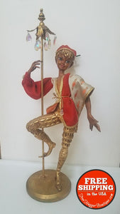 Vintage Mid Century Pixie Elf Jester With Staff By Arp