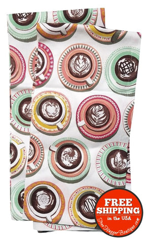 Coffee Cups Dish Towels (2)