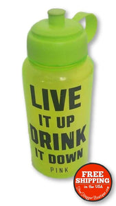 32oz. Neon Green Water Bottle by Pink (Victorias Secret) - Home Decor