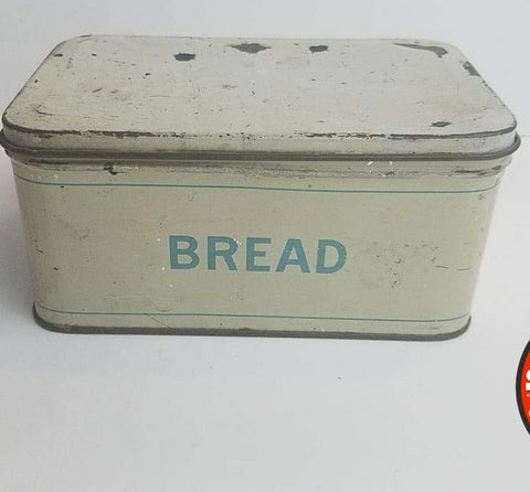 Vintage Tin Toy Canister Bread Box Usa 1940S - Toy