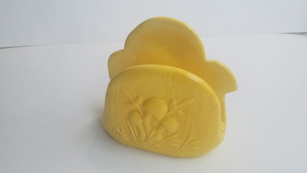 Vintage Ceramic Mushroom Napkin Yellow - Napkin Holder
