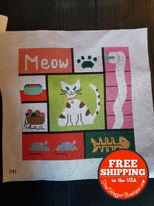 Cats Meow Vintage Embroidery Diy Map By Map Designs 141 - Arts & Craft Supply