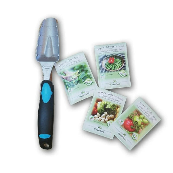 New Bundle Of 4 Organic Heirloom Vegetable Seeds And Garden Spade/hand Shovel - Home & Garden Outdoor