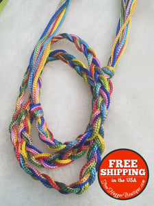 Womens Small/med. Rainbow Braided Fashion Belt - Belts