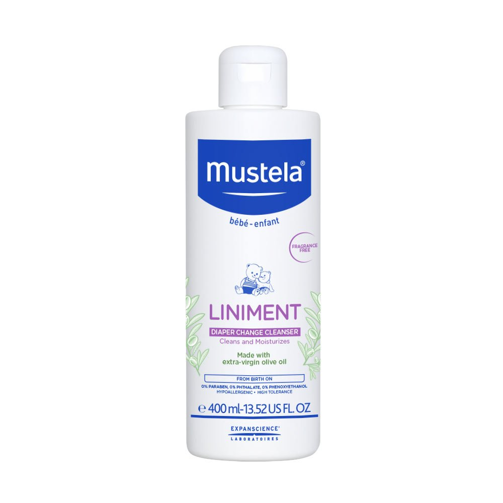 Mustela Baby Liniment No Rinse Cleanser for Diaper Rash Control