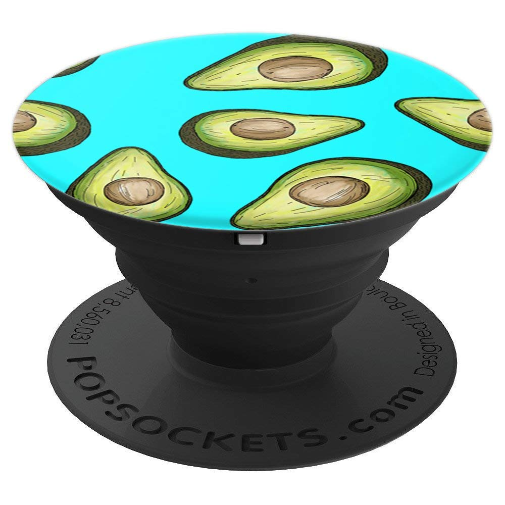 Avocado PopSocket for Phones and Tablets (Blue)