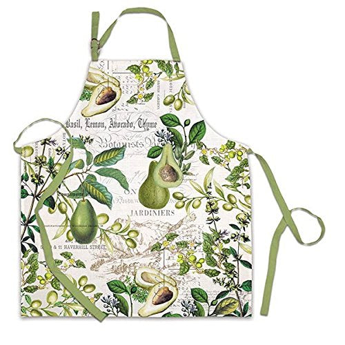 Michel Design Works Avocado Cotton Chef Apron