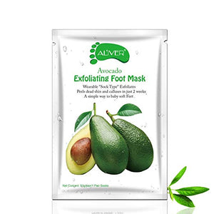 ALIVER Avocado Foot Exfoliate Peel Mask: 2 Pack