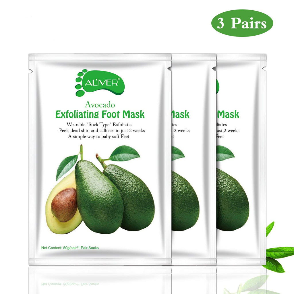 ALIVER Avocado Foot Exfoliate Peel Mask: 3 Pack
