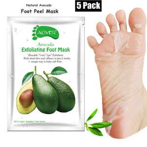 ALIVER Avocado Foot Exfoliate Peel Mask: 5 Pack