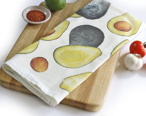 Honey Brush Avocado Cotton Flour Sack Tea Towel