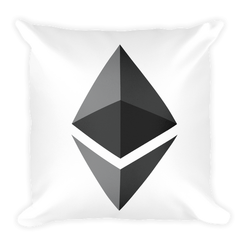 Soft Ethereum Square Pillow