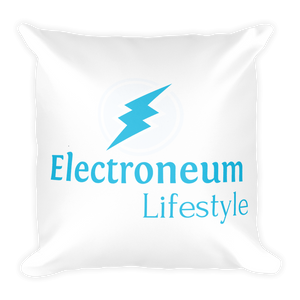 New Electroneum Lifestyle High Quality Soft Square Pillow